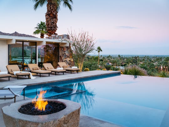 Nestled atop boulders in the Mesa neighborhood of Palm
