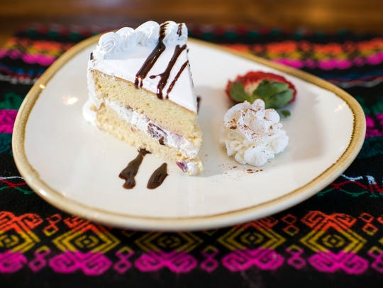 Tres Leches Cake is a traditional offering from Cielito Lindo in Medford.