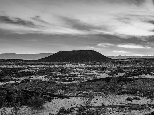Amboy is a ghost town that's home to Amboy Crater.