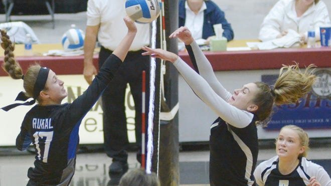 Washburn Rural's Brooklyn DeLeye (17) earned first-team All-Class 6A honors from the Kansas Volleyball Association for the second straight year after leading the Junior Blues to a third-place finish at the 6A state tournament.