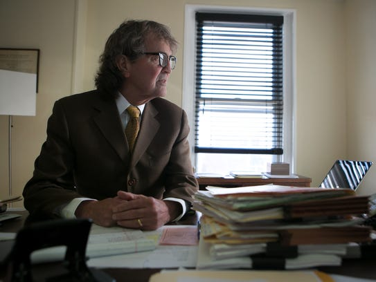 Attorney Eugene Maurer, Jr. at his office in Wilmington.