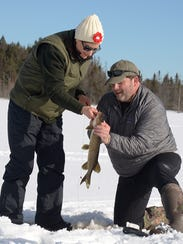 Penny Durkin and John Maier catch the day's first northern