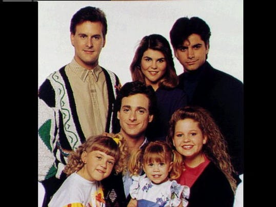 Full house quot cast front jodie sweetin bob saget mary kate olsen
