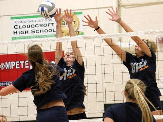 The UTEP volleyball team conducted an inter-squad Monday afternoon at Cloudcroft High School.