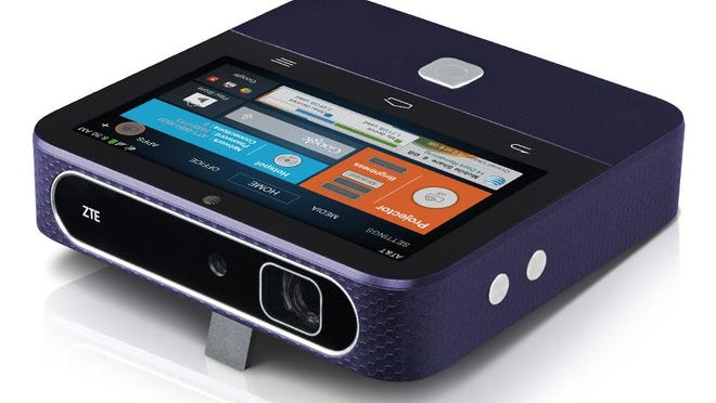 Equipped with an Android interface, the ZTE Spro 2 portable projector can stream content from Google Play apps, a micro SD card, a USB drive, an HDMI cable, a Wi-Fi connection or a mobile hotspot.