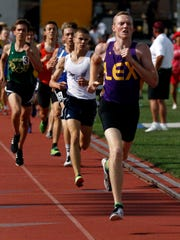 Lexington senior Ryan Johnston finished third in the Division I 1600 meter run Saturday after anchoring the 4x400 relay to a fourth place medal on Friday.