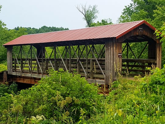The Old Highway 131 Trail crosses the Kickapoo River