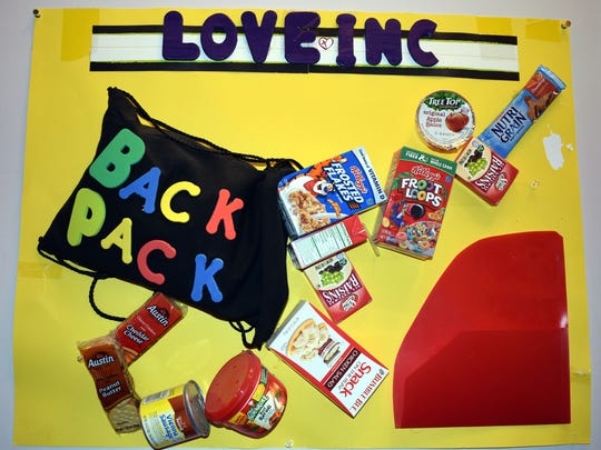 Through their Backpack Program, Love INC. feeds local students who lack reliable access to food.