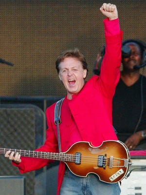 Sir Paul McCartney, shown performing in Moscow in 2003.