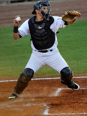Mark Thomas, who was with the Biscuits in 2012-13, now plays for the Mobile BayBears. (Montgomery Advertiser, Mickey Welsh)
