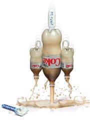 The Vertical Landing Mentos & Diet Coke Rocket.