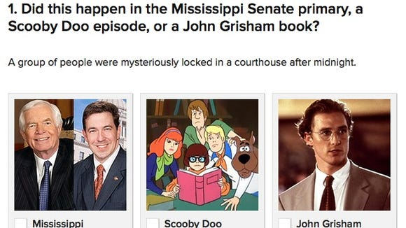 Buzzfeed made a clever quiz based on Mississippi's GOP primary race for U.S. Senate.