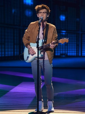 "Singer MacKenzie Bourg of Lafayette performs ""I Wanna Dance with Somebody"" on ""American Idol."""