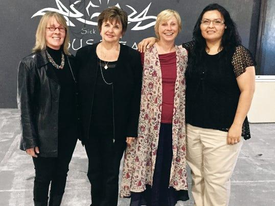 Whispering-Wind.org board members left to right: Shirley Estes, Lynette Watkins,Mary Kay McCauley and Janice Enjady Merino.