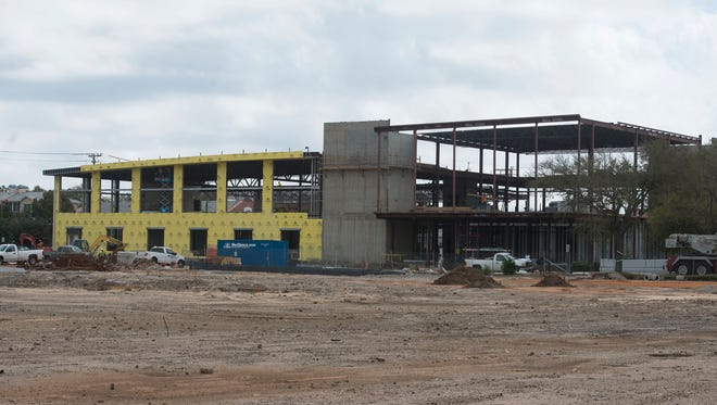 Construction of the new YMCA in downtown Pensacola is current on time and on budget.  The $16 Million 52,000 sq. ft. facility being built on the former Pensacola News Journal is scheduled to open in late Dec. 2016 or early Jan. 2017.