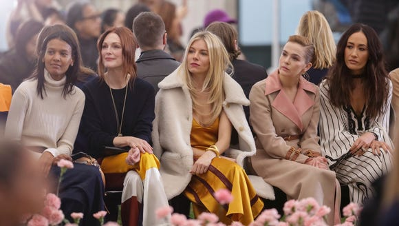 Liya Kebebe, from left, Julianne Moore, Sienna Miller,