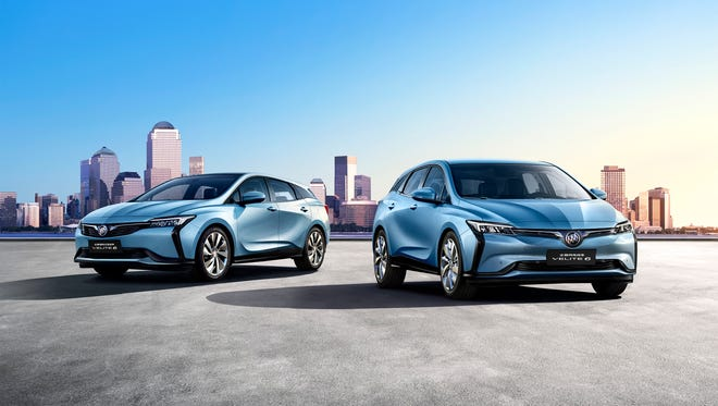 GM introduced the Buick Velite electric and plug-in hybrid at the Beijing auto show.