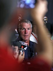 Pro Football Hall of Fame 2016 inductee Brett Favre