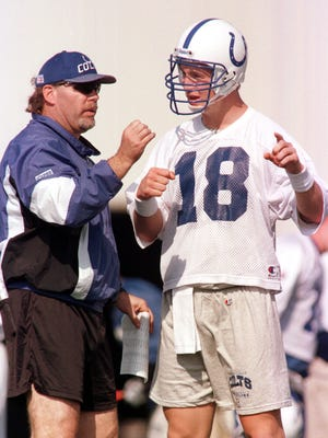Bruce Arians was quarterbacks coach in Indianapolis when rookie QB Peyton Manning was starting out in 1998.