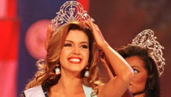 Competing as Miss Venezuela, Alicia Machado won the
