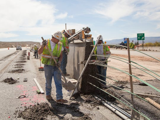 Construction crews continue work on the I-15 overhaul
