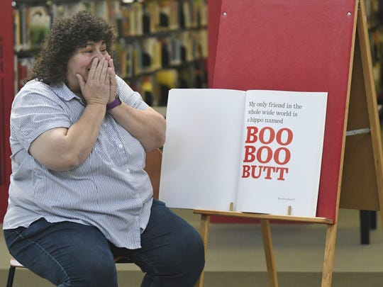 """Supervisor Amy Shuklian reads author B.J. Novak's """"The Book With No Pictures."""""""
