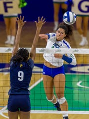 FGCU sophomore Amanda Carroll, shown against FIU on