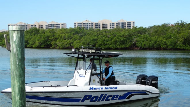 Officer of the Year Josh Ferris is assigned to the city's marine unit.