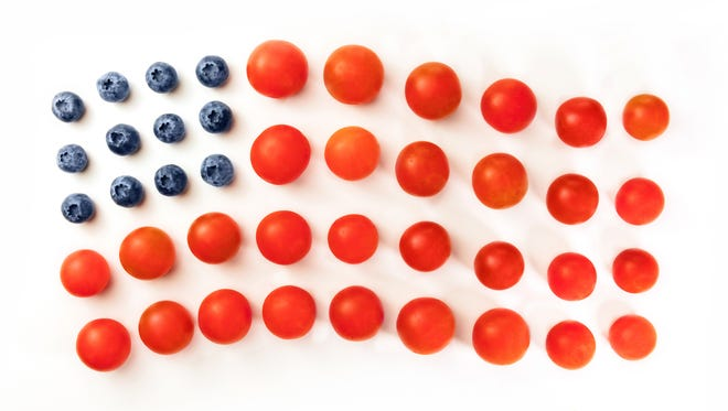 Try these red, white and blue snacks at your holiday gathering.