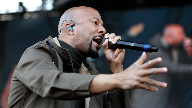 Rapper and actor Common performs at a rally commemorating the 50th anniversary of the assassination of Rev. Martin Luther King Jr. Wednesday,  in Memphis, Tenn. King was assassinated April 4, 1968, while in Memphis supporting striking sanitation workers.