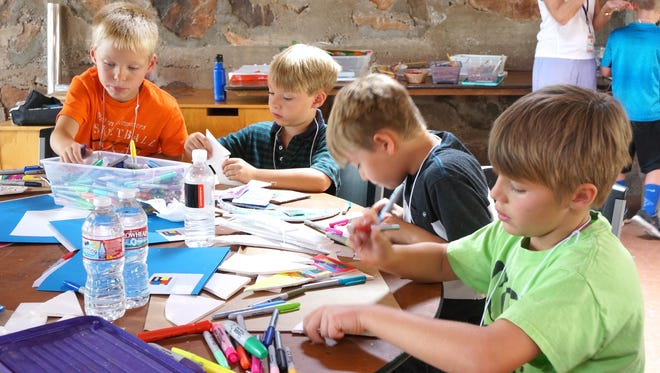 Kids enjoy looking for abstract art in an architectural design camp at Frank Lloyd Wright Foundation's Taliesin West in Scottsdale.