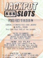 Mark Maltz's winning Fast Cash Jackpot Slots ticket.