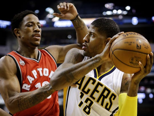 The Paul George-DeMar DeRozan matchup has been key to Indiana's success in this first-round series.