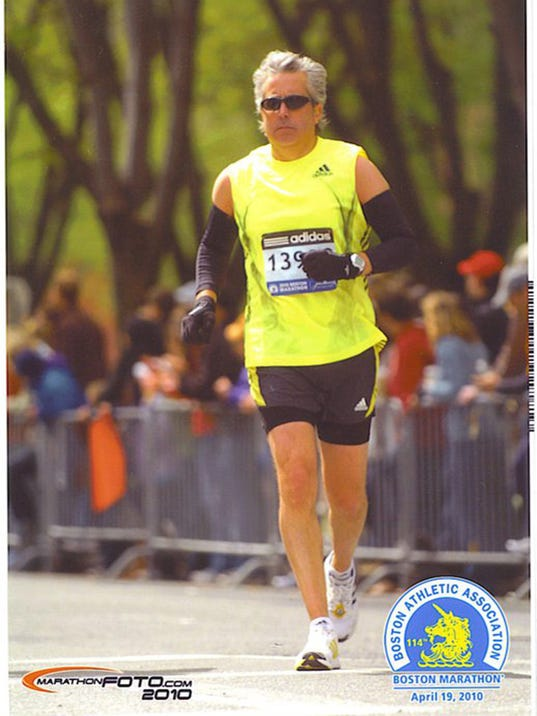 York Suburban grad Larry Rosenblatt is running four marathons by the end of May to raise money for a family devastated by Hurricane Sandy.