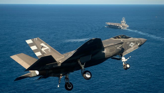 President Obama's new budget seeks money to buy 57 new F-35C Joint Strike Fighters.