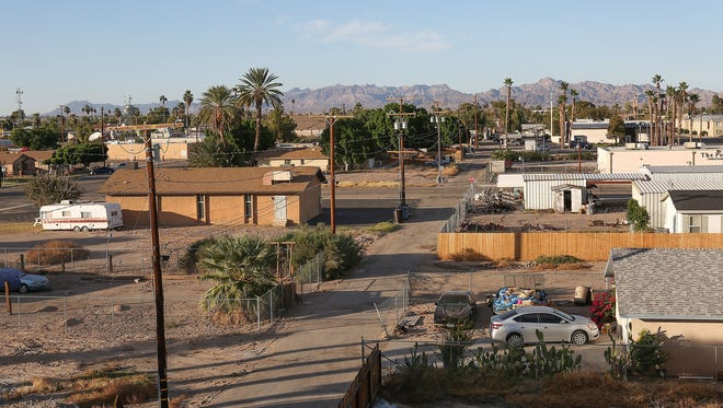 The rural California town of Blythe is directly across the border from Arizona on the I-10 Interstate.