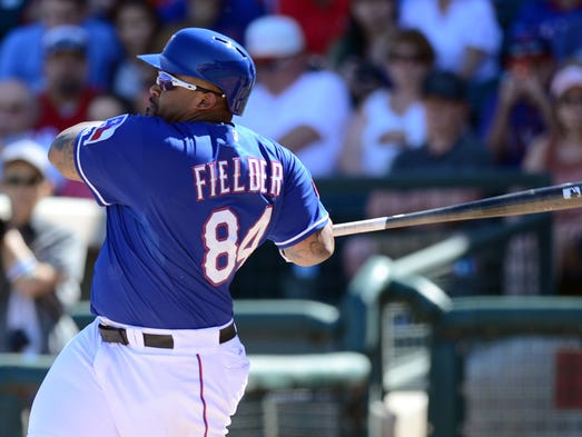 Prince Fielder Rangers Spring Training