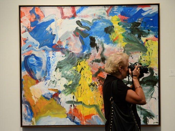 """Untitled V"" by Willem de Kooning is on display during"