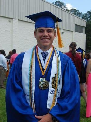 "Joseph ""Blake"" Broom graduated from Columbia High School in 2016."