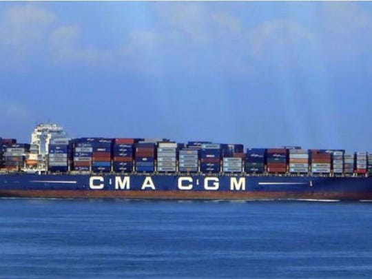 The Cendrillon, part of the CMA CGM's global shipping fleet. Don Merry spent 128 days on board.
