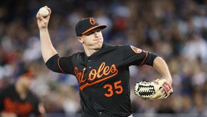 TORONTO, CANADA - JUNE 10: Brad Brach #35 of the Baltimore Orioles delivers a pitch in the ninth inning during MLB game action against the Toronto Blue Jays on June 10, 2016 at Rogers Centre in Toronto, Ontario, Canada. (Photo by Tom Szczerbowski/Getty Images)