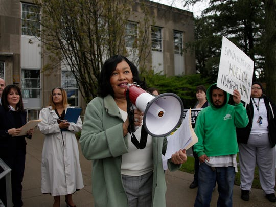 Pontiac Mayor Dr. Deirdre Waterman reasssures the community