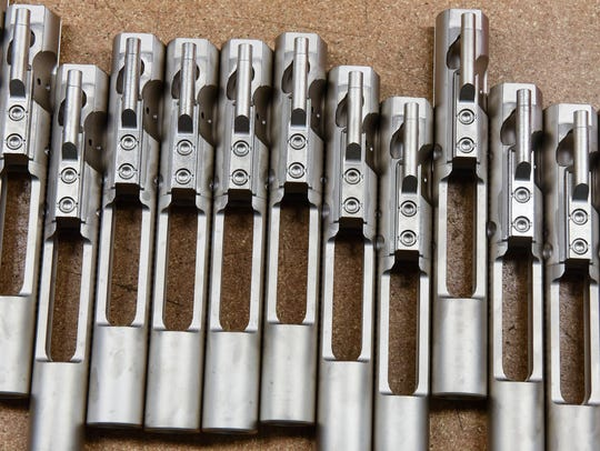 Bolt carrier assemblies are prepared at Alex Pro Firearms