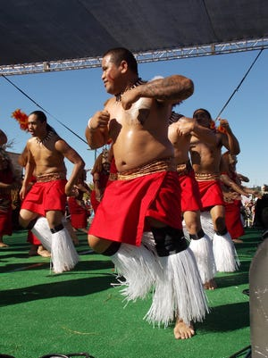 Traditional dances being performed during the Arizona Aloha Festival.