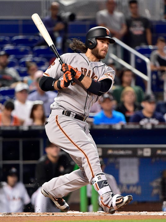 new product 649b6 2fd3d Giants' Brandon Crawford drawing attention with offensive ...