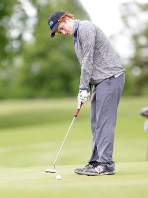Ben Hintze of St. Mary's Springs Academy golfs at the WIAA Division 3 sectionals at Rolling Meadows Golf Course Tuesday May 30, 2017.
