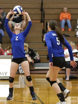 Senior setter Hailey Becker (2) has helped lead Winnebago Lutheran to the top of the Flyway Conference standings.