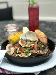 Cast Iron Littleneck Clams with Blueberry Mojito.