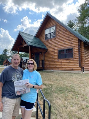OHIO                                                                                 Gene and Carol Levine of Dublin visit  Pleasant Hill Lake Park in Perrysville. They recommend exploring Ohio to keep tax dollars here, and to book early because these are beautiful, newly built cabins.