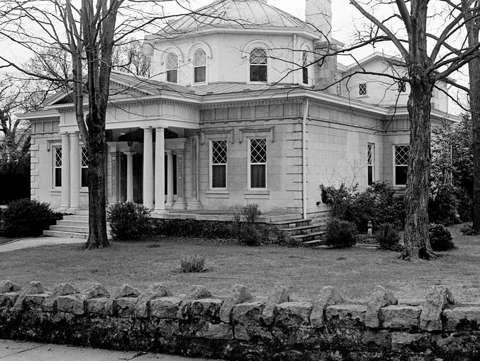 On April 1, 1974, this stone house at 3700 Whitland was a nominee for the architectural-historical awards given by the Metro Historical Commission. The home, dated 1917, was inspired by Thomas Jefferson's Monticello in Virginia and one of 55 houses built by John B. Daniel, eminent Nashville attorney. In the late '30s and early '40s it was the home of Col. Luke Lea and family.